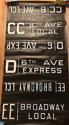 1960s IND/BMT R-27 Car Side Route Rollsign Section New York Subway Vellum