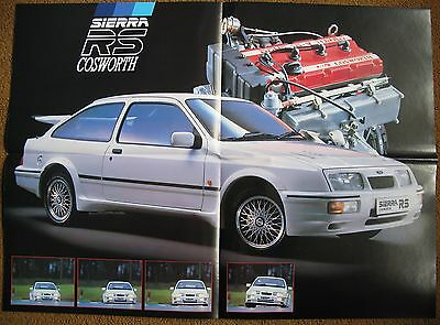 1986 Ford Sierra RS Cosworth 3dr Brochure original launch brochure 500 AVO sve
