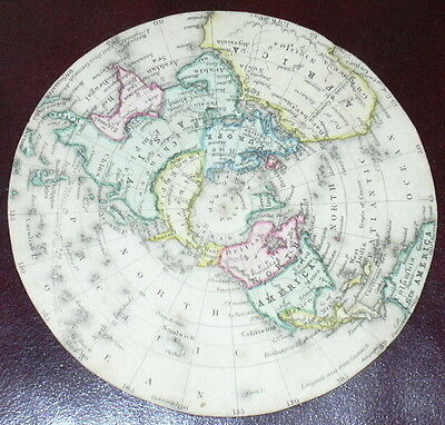 c.1846 Geographical Diagram Earth- Astronomical Diagram Card - Reynolds / Emslie