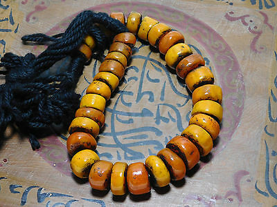 Best African Atlas Mountains Berber Resin Beads Necklace, Morocco