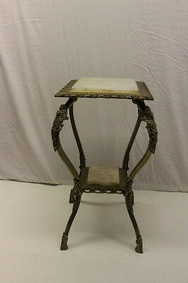 Incredible 19th Century French Brass & Onyx Lamp Table Pedestal Stand