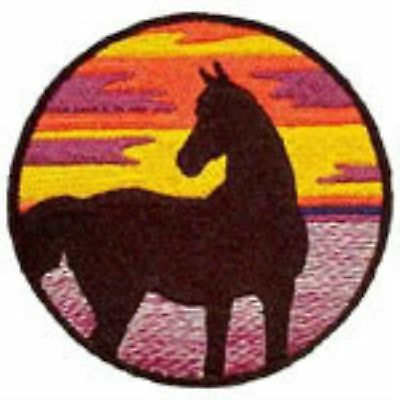 Arabian Horse Silhouette Embroidery Patch