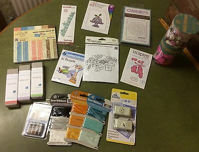 Job Lot Of Art And Craft , Dies, Rubber Pre Cut, Letterpress Ink ...