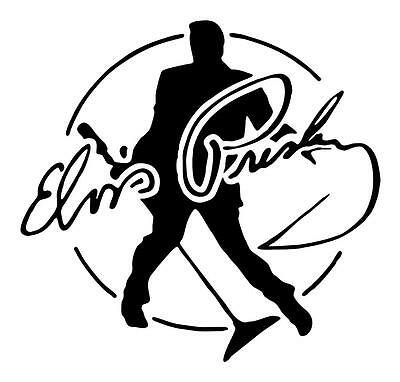 Elvis Presley Singing W/microphone Autograph 6X6 Vinyl Decal Sticker Any Color