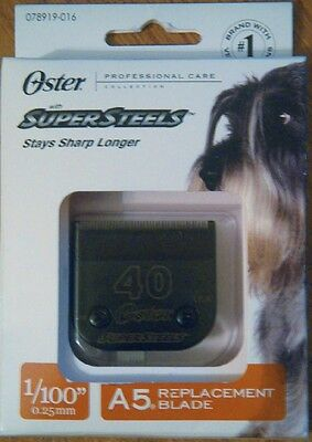 Oster Professional Care Supersteels A5 #40 Replacement Blade 1/100""