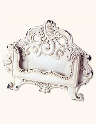 Victorian Antiqued White Metal Business Card Holder Giftboxed Free Ship NIB