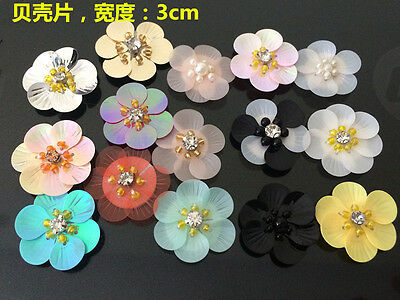 Patch Flower Applique sequin beading clothing accessory embroidery sock shoe hat