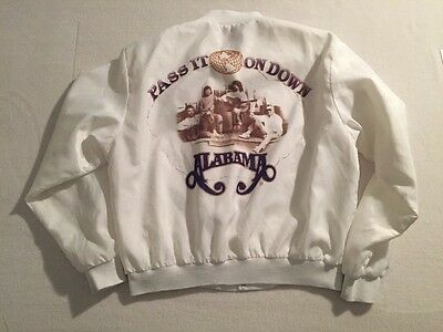 Vtg Swingster Alabama Band Pass It On Down Concert Tour Satin Jacket Adult XL
