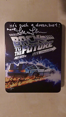 Back to the Future RARE 25th Blu Ray Collector's Tin SIGNED - Christopher Lloyd