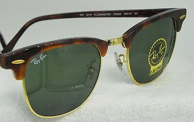 7e98070a9c7 RAY BAN CLUBMASTER RB3016 W0366 51 21 Tortoise Gold Sunglasses RB13 ...