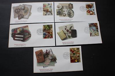 """Set Greetings """"memories"""" Great Britain Gb Uk Fleetwood First Day Covers Fdc"""