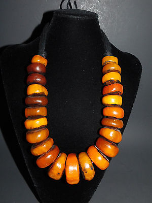Best tribal jewelry Berber resin graduated trade beads Necklace from  Morocco