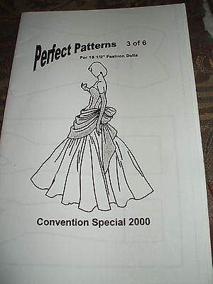 """Perfect Patterns 3 Of 6 For 15.5"""" Fashion Dolls"""