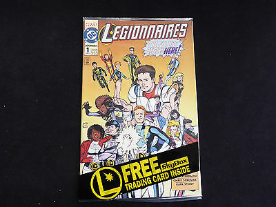 Legionnaires #1 Factory sealed + trading card (Apr 1993 DC)