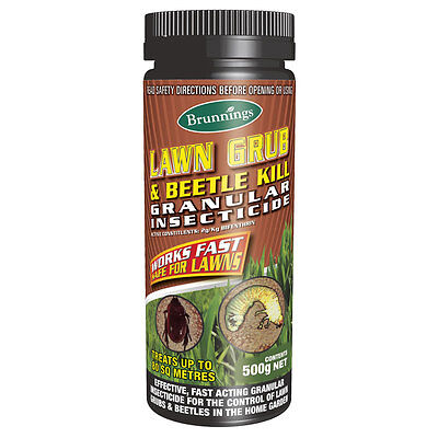 Brunnings Lawn Grub & Beetle Kill Granular Insecticide 500G - Fast Acting