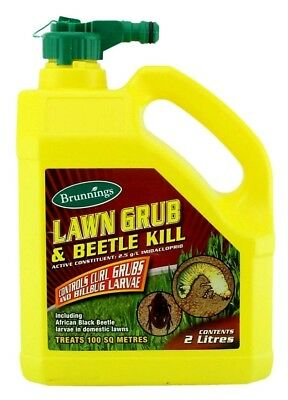 Brunnings Lawn Grub & Beetle Kill 2 Ltr Hose-On Insecticide
