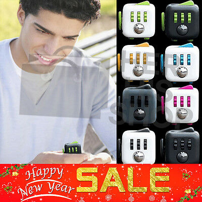 Dice Fidget Cube Desk Toy Stress Anxiety Relief Christmas Stocking  Adult Kids