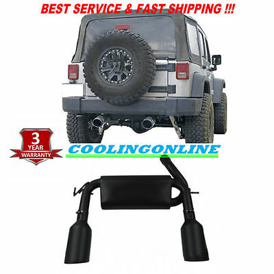 Stainless Steel Cat-Back Performance Exhaust For 2007-2016 JEEP Wrangler Black