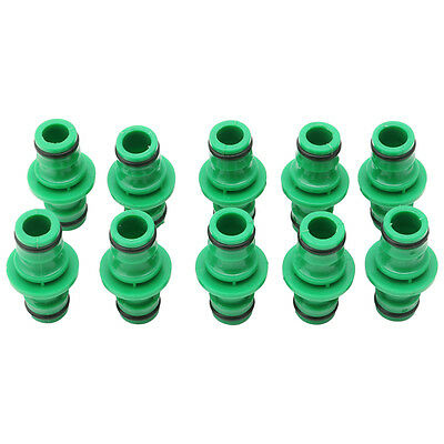 """10Pcs One Way 1/2"""" Garden Hose Pipe Water Connector Joiner Quick Fix Coupler New"""