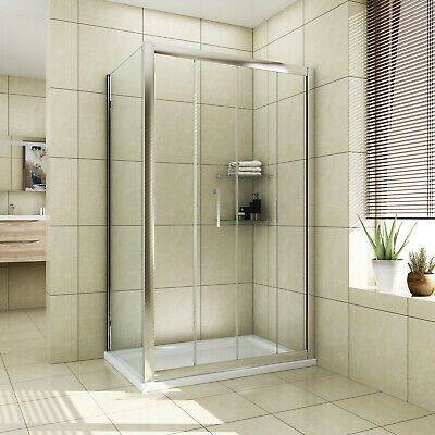 Sliding Door Shower Enclosure Shower Cubicle and Tray Side Panel 8mm Easy Clean