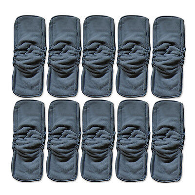 5X Baby Bamboo Charcoal Cloth Diaper Reusable Washable Liners Insert Nappy