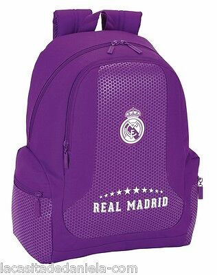 REAL MADRID Mochila grande escolar adaptable/backpack/sac à dos/zaino/rucksack