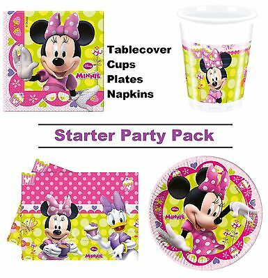 Minnie Mouse Bow-Tique 1-48 Guest Starter Party Pack - Cups, Plates, Napkins
