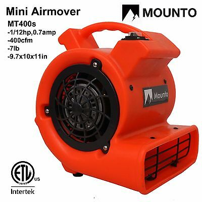 MOUNTO MT400s Air Mover Carpet Dryer floor dryer blower industry fan Airmover