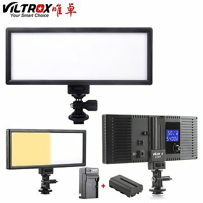 Viltrox L132T LCD Bi-Color & Dimmable Slim DSLR Video LED Light +Battery+Charger