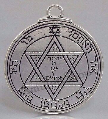 Medallion Pentacle Seal of MARS Talisman Amulet of King Solomon. 2 faces