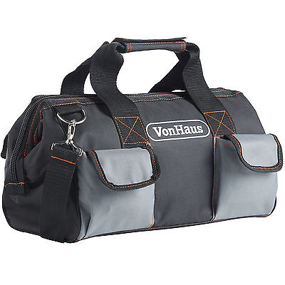 VonHaus Tool Storage Carry Bag Organiser with Shoulder Strap & Zip Fastener