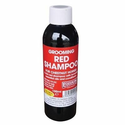 EQUIMINS RED SHAMPOO FOR CHESTNUTS colour enhancing ginger showing coat shine