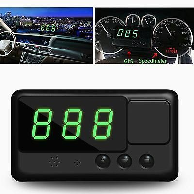 Car GPS Speedometer HUD LED Head Up Display MPH/KM/h Plug Speed Warning Monitor