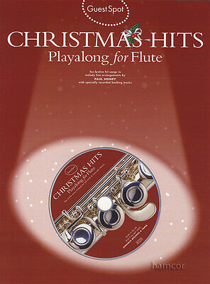 Guest Spot Christmas Hits Playalong for Flute Music Book & Backing Tracks CD