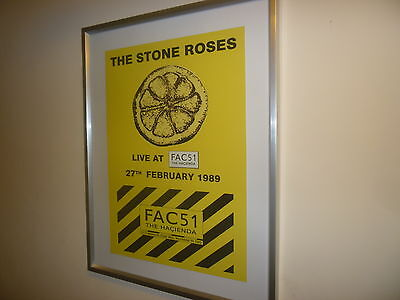 RARE Stone Roses Metal Promotional Sign - Hacienda Gig 1989 -Closing Party Promo