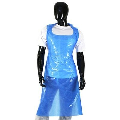 Disposable Blue Aprons (Flat Pack of 100) Anti Bac  - Saver Options Available