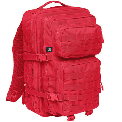 Brandit US Cooper Rucksack Large Outdoor MOLLE Bag First Aid Rescue Backpack Red