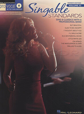 Singable Standards Pro Vocal Vol 43 Sheet Music Book with CD Sing Womens Edition