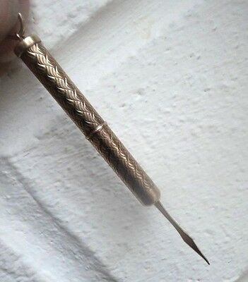 9ct Gold Toothpick Fob h/m 1958 Birmingham by Cohen & Charles -  Twist Action