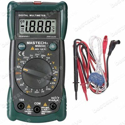Mastech MS8233C Digitalmultimeter Spannung Widerstand Temperatur
