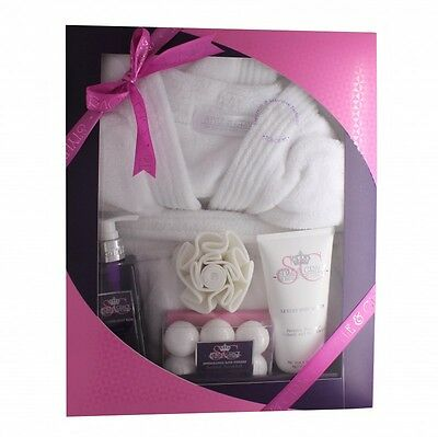 Style & Grace Deluxe Robe Gift Set 250Ml Body Wash + 100G Bath Fizzlers + 200Ml