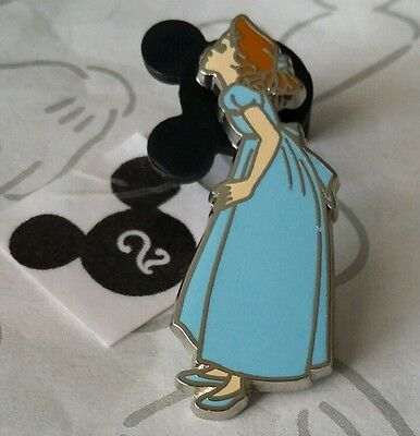 Wendy Kissing Leaning to Kiss Peter Pan Blue Nightgown Disney Pin Buy 2 Save $