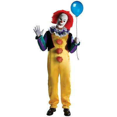 Pennywise Costume Adult Scary Clown It Halloween Fancy Dress