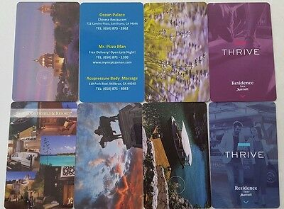 8 collectors hotel room key cards great condition!