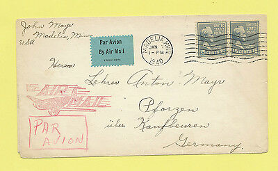 USA, airmail commercial cover, Buchanan, Sc #820, nice airmail logo, to Germany