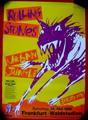 Rolling Stones the German 1990 URBAN JUNGLE tour poster nearmint