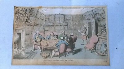 Authentic Antique Framed Satirical Print by Rowlandson 'Doctor Syntax with my..