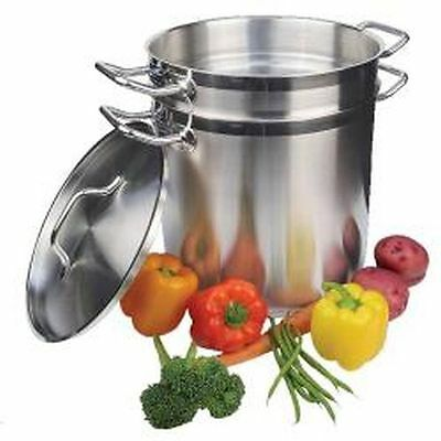 Winco 12 qt.Stainless Steel Double Boiler