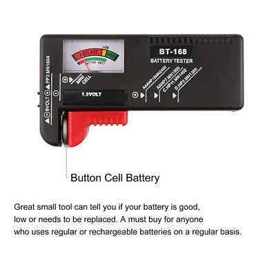 AA/AAA/C/D/9V/1.5V Universal Button Cell Battery Volt Tester Checker BT-168 EG
