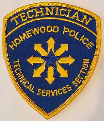 Homewood Police Department Technical Services Section Technician Cloth Patch